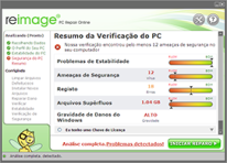 Screenshot dos Resultados do Reimage Repair